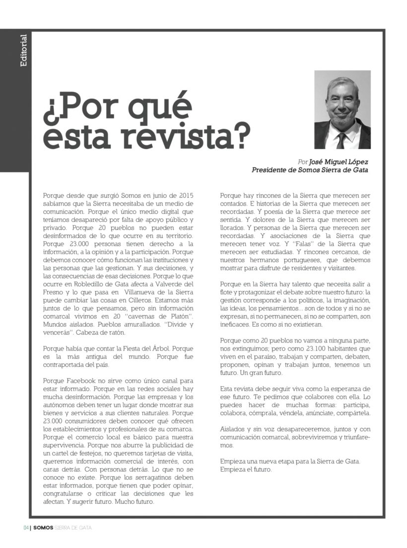 Editorial: ¿Por qué esta revista?